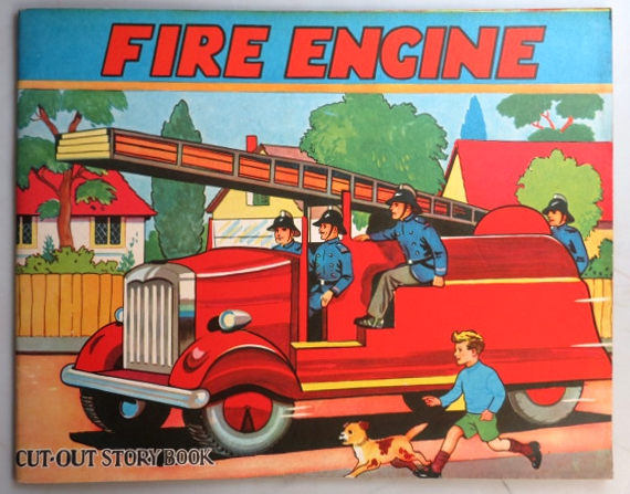 Fire Engine Cut-Out Story Book. FIRE ENGINE.