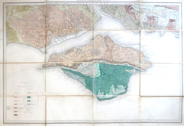 Ordnance Survey of the Isle of Wight and Part of Hampshire. GEOLOGICAL SURVEY OF ENGLAND.