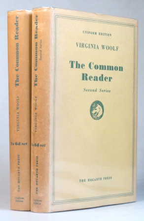 The Common Reader. First [and] Second Series. Virginia WOOLF.