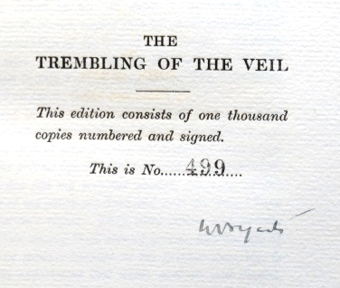 The Trembling of the Veil. W. B. YEATS.