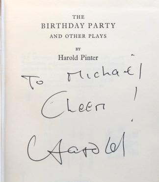 The Birthday Party, and other plays. Harold PINTER.