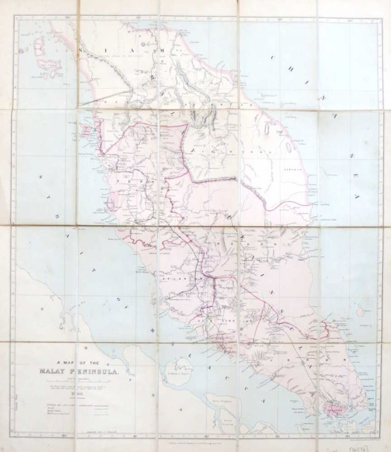 A Map of the Malay Peninsula. Edward STANFORD.