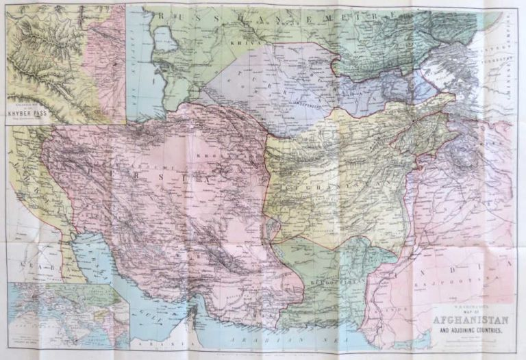 Map of Afghanistan and Adjacent Countries. [also titled on the verso] Special Map of Afghanistan Including the Indian & Russian Frontiers and Adjoining Countries. W. H. AND SON SMITH.