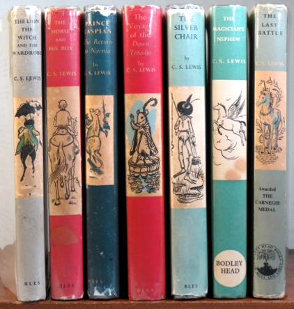 [The Chronicles of Narnia]. The Lion, the Witch and the Wardrobe. The Horse and his Boy. Prince Caspian. The Voyage of the Dawn Treader. The Silver Chair. The Magician's Nephew. The Last Battle. Illustrations by Pauline Baynes. C. S. LEWIS.