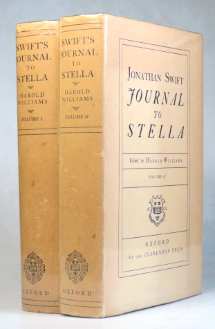 Journal to Stella. Edited by Harold Williams. Jonathan SWIFT.