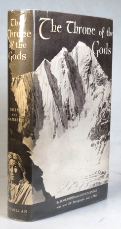 The Throne of the Gods. An Account of the First Swiss Expedition to the Himalayas... Translated by Eden and Cedar Paul. Arnold HEIM, August GANSSER.