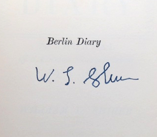 Berlin Diary. The Journal of a Foreign Correspondent 1934-1941. William L. SHIRER.