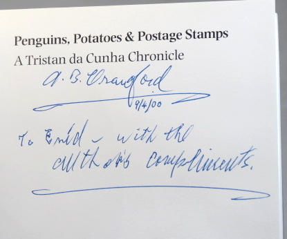 Penguins, Potatoes & Postage Stamps. A Tristan de Cunha Chronicle. Allan B. CRAWFORD.