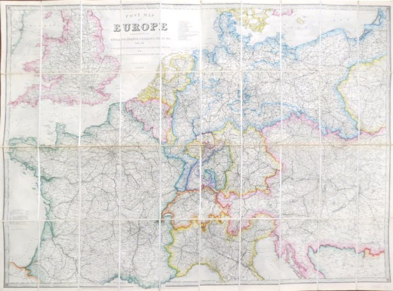 Post Map of Europe. Comprehending England, France, Germany, Italy &c. With the Posts, Distances, Roads, Railways, Packet Routes, &c. James WYLD.