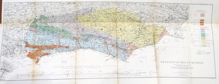 Geological Map of the County of Sussex. W. TOPLEY.