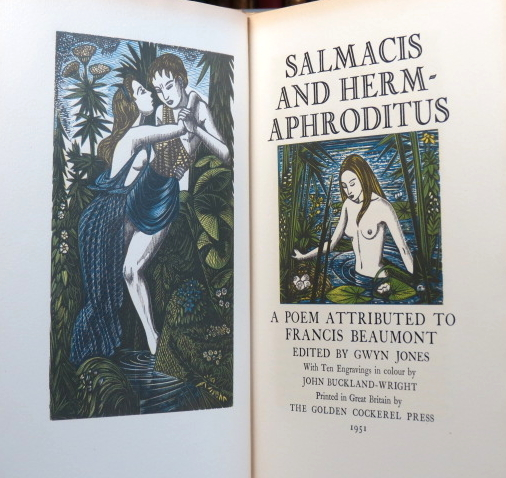 Salmacis and Hermaphroditus. A Poem attributed to... Edited by Gwyn Jones. With... engravings in colour by John Buckland Wright. Francis BEAUMONT.