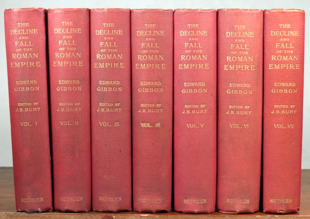 The History of the Decline and Fall of the Roman Empire. Edited... with introduction, notes and appendices, and index by J.B. Bury. Edward GIBBON.