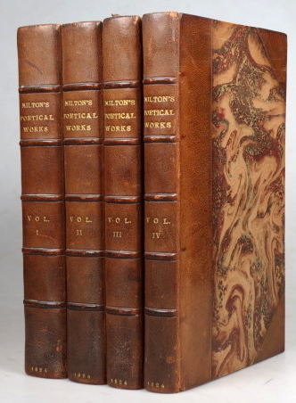 The Poetical Works of... with notes of various authors, Principally from the Editions of Thomas Newton, Charles Dunster and Thomas Warton. To which is prefixed, Newton's Life of Milton by Edward Hawkins. John MILTON.