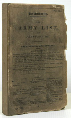 The Army List, for February, 1857. Rank, Honours and Rewards. ARMY LIST
