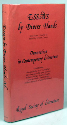 Essays by Divers Hands: Innovation in Contemporary Literature, being the transactions of the...