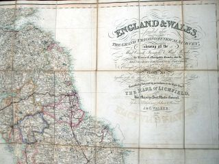 England and Wales founded upon The Grand Trigonometrical Survey; shewing all the Mail Coach,...