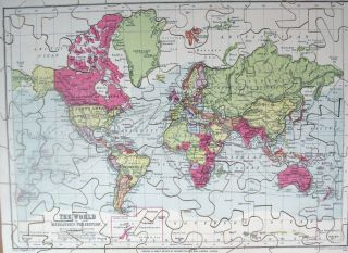 Jigsaw Maps] The World on Mercator's Projection. / Scotland. / Europe. George PHILIP, Ltd Son