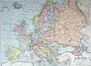[Jigsaw Maps] The World on Mercator's Projection. / Scotland. / Europe.