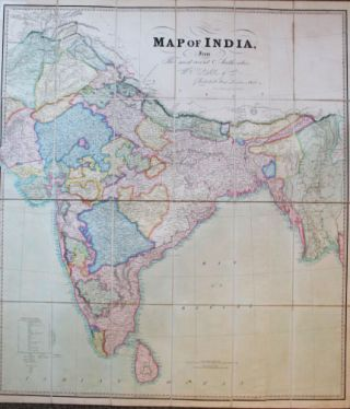 Map of India from the Most Recent Authorities. J. WALKER, C