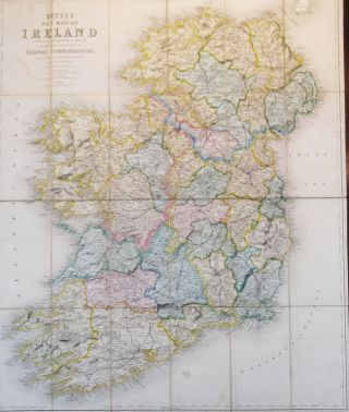 Betts' New Map of Ireland Accurately Reduced from the Beautiful Six Sheet Map Engraved Under the Superintendence of the Railway Commissioners. The Matter Compiled From The Latest Parliamentary Returns and Other Valuable Documents. John BETTS.