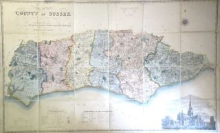 Map of the County of Sussex from an Actual Survey Made in the Years 1823 & 1824 Corrected to the Present Time by... Presented to the Subscriber's to The Sussex Express, Surrey Standard & Kent Mail, by the Proprietor. C. & J. GREENWOOD, William FIGG.