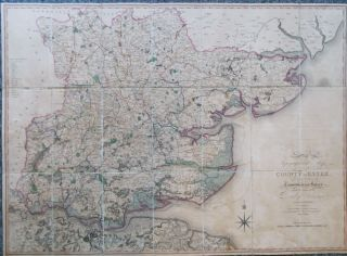 A Topographical Map of the County of Essex. Constructed from the Trigonometrical Survey Made by...