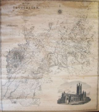 Map of the County of Gloucester, Made from an Actual Survey in the Year 1823. C. GREENWOOD, J