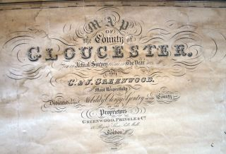 Map of the County of Gloucester, Made from an Actual Survey in the Year 1823...