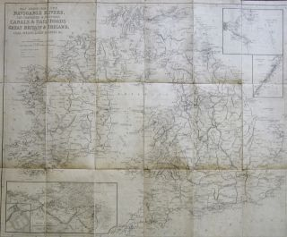 [Collection of Six Folding Maps]: The World on Mercator's Projection. [with] Map Exhibiting the Navigable Rivers, the Completed & Proposed Rail-Roads of Great Britain & Ireland, with the Coal Fields, Light House &c. [with] Central & Southern Europe with the Mediterranean Sea. [with] British Possessions in North America, with Part of the United States, Compiled from Official Sources. [with] Central America and the West Indies... [and] Asia. S. HALL, J. WALKER.