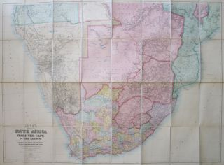 Juta's Map of South Africa from the Cape to the Zambesi. Complied from the Best Available Colonial and Imperial Information Including the Official Cape Colony Map by the Surveyor General, Cape Town, T. Hahn's Damaraland, and F.C. Selous' Journals & Sketches &c. J. C. JUTA.