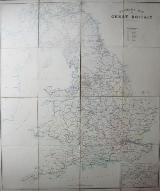 Military Map of Great Britain. MILITARY