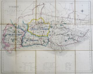 Fox Hunting Map of) Sussex. J. WALKER, C