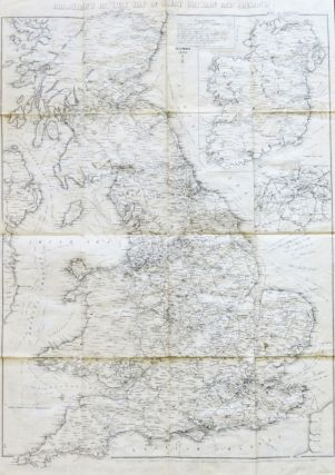 Bradshaw's Railway Map of Great Britain and Ireland. BRADSHAW, BLACKLOCK.