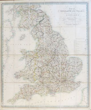 New and Improved Map of England and Wales, Including the Principal Part of Scotland whereon are...