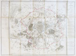 Map of Paris]. Département de la Seine. Pierre DUMEZ