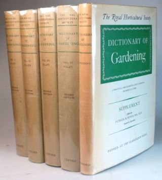 The Royal Horticultural Society Dictionary of Gardening. A Practical and Scientific Encyclopedia...