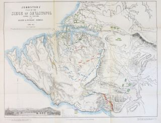 Johnstons' Atlas of the War 1855. [Comprising]: Johnston's New Map of the Seat of War in the Danubian Principalities and Turkey...; Johnston's Chart of the Baltic Sea German Ocean & English Channel...; Johnston's New Map of the Crimea with a Plan of the Town and Port of Eupatoria...; Johnston's New Map of the Black Sea Caucasus, Crimea &c with Enlarged Plans of Sevastopol...; Johnston's War Map of Europe Showing the Seats of Operation in the Black Sea & Sea of Azov...; Johnston's Plan of the siege of Sevastopol Showing the Positions of the Allied & Russian Armies...; Johnston's Chart of the Sea of Azov, with a Map of the Grain Producing Portion of Russia whence it Derives its Commerce.