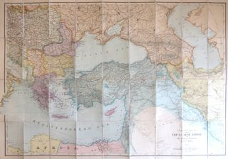 Stanford's Map of Part of the Turkish Empire with the Balkan Peninsula and Lower Egypt. Edward STANFORD.
