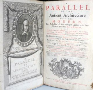 A Parallel of the Antient Architecture with the Modern, In a Collection of Ten Principal Authors who have Written upon the Five Orders, Viz. Palazzo and Scamozzi, Serlio and Vignola, D. Barbaro and Cataneo, L.B. Alberti and Viola, Bullant and De Lorme, Compared with One Another. The Three Greek Orders, Dorick, Ionick, and Corinthian, Comprise the First Part of this Treatise. And the Two Latin, Tuscan and Composita, the Latter...