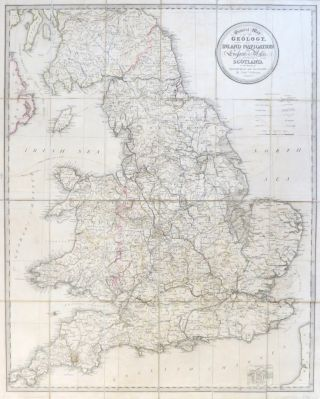 General Map of the Geology and Inland Navigation of England & Wales, with those of Scotland to the South of Edinburgh and Glasgow. COLTMAN, Nathaniel.
