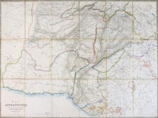 Wyld's Map of Afghaunistan [Afghanistan], Caubul, the Punjab, Rajpootana, and the River Indus....