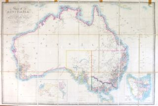 Map of Australia, Compiled from the Nautical Surveys, Made by Order of the Admiralty, and other...