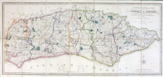 A Topographical Map of the County of Sussex; Reduced from the Large Survey in Four Sheets by....