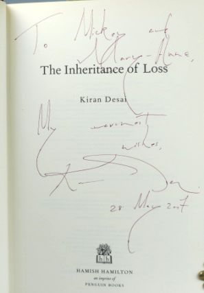 The Inheritance of Loss. Kiran DESAI.