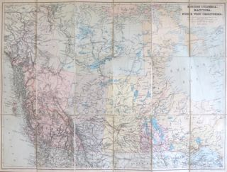 British Columbia, Manitoba, and the North West Territories. Edward STANFORD.