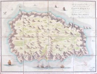 Geographical Plan of the Island and Forts of Saint Helena. Lieut. R. P. READ