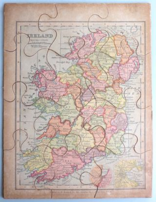 [Jigsaw Map of] Ireland. Publisher, G. W. BACON, , Co.