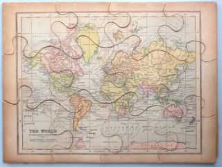 Jigsaw Map of] The World. G. W. BACON, Co, Publisher