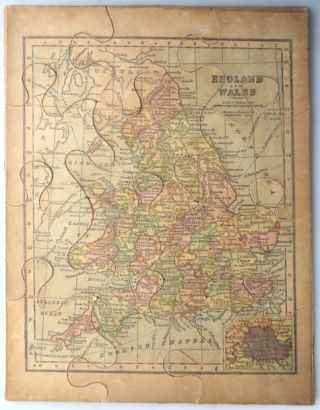 [Jigsaw Map of] England and Wales. Publisher, G. W. BACON, , Co.