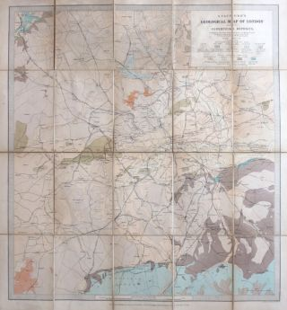 Stanford's Geological Map of London Shewing Superficial Deposits. Compiled by... Assistant Keeper of Mining Records from the Geological Survey Maps of the District. Surveyed Principally W. Whitaker. J. B. JORDAN.